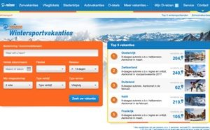 d-reizen wintersport website