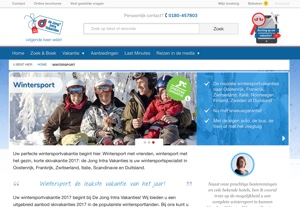 dejongintra wintersport website