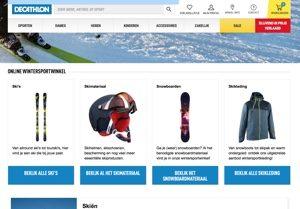 Decathlon Wintersport website