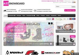 Justsnowboard.nl website