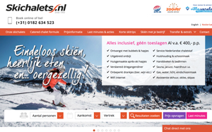 skichalets.nl website