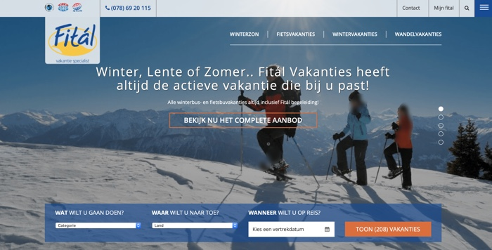 website fital wintervakanties